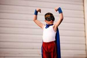 Active, confident superman.